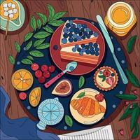 Coloring Food Background vector
