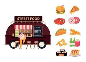 Street Food Concept vector