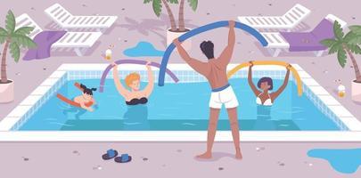 Hotel Activities Background vector