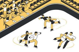 competencia de patinaje artístico vector