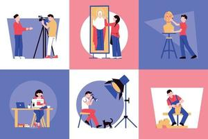 Creative Professions Design Concept vector