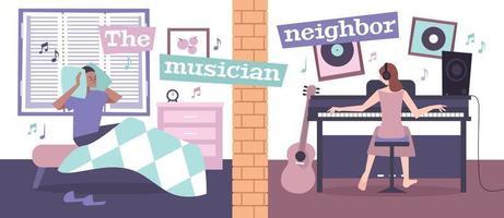 House Neighbors Background vector