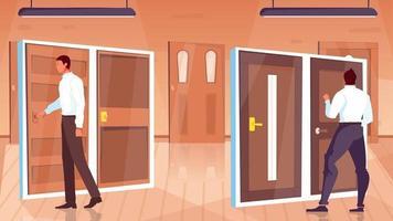 ilustración de la tienda de la puerta vector