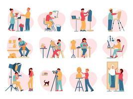 Creative Professions Icon Set vector