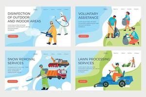 Street Cleaning Banners Set vector