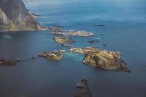 Scenic landscape of Lofoten islands photo