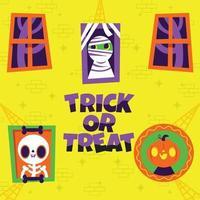 Photos of Halloween Creatures Background vector