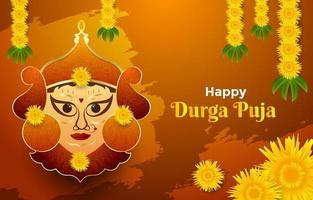 Happy Durga Puja Background vector
