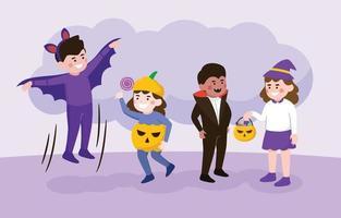 Cartoon Halloween Trick or Treat Character vector