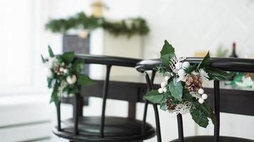 Interior light kitchen with christmas decor photo