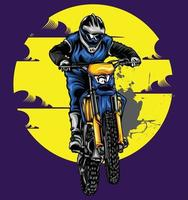 diseños de ilustración de motocross vector