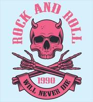 prinvintage rock n roll vector