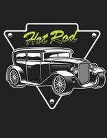hot rod vintage style vector