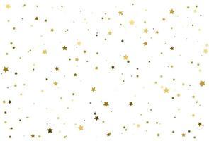 Magic gold stars confetti pattern, Golden background vector