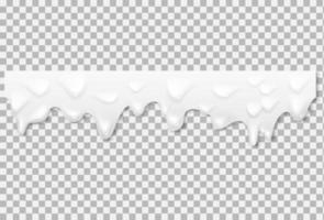 Liquid yogurt white texture. Vector