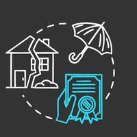 Insurance loss declaration chalk RGB color concept icon vector