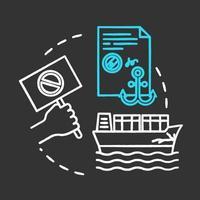 Maritime protest chalk RGB color concept icon vector