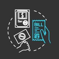 Protesting bill chalk RGB color concept icon vector