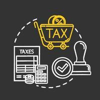 Value added tax chalk RGB color concept icon vector