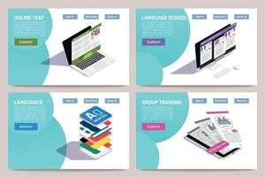 Language Learning Online Concept vector