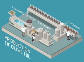 composición de la línea de aceite de oliva vector