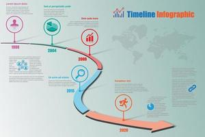 Business roadmap timeline infographic pointer designed vector