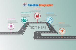 Business roadmap timeline infographic template vector