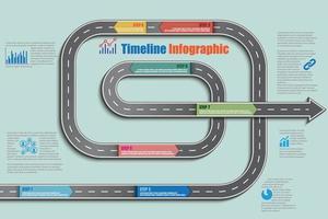 Business roadmap timeline infographic flat design template vector