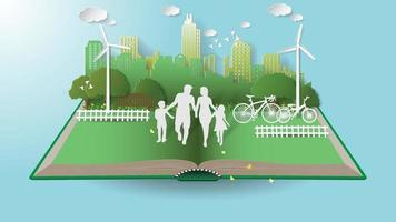 Green renewable energy technology environmentally friendly concepts vector
