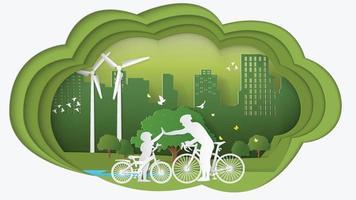 Green energy technology power saving environmentally friendly concepts vector