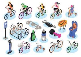 bicicleta de ciclismo isométrica vector