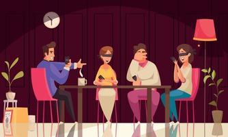 composición de la mafia de juegos de mesa vector