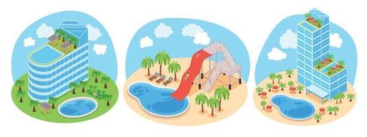 concepto de diseño de parque acuático vector