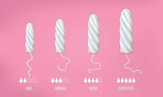 Tampons Realistic Set vector