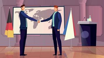 Diplomacy And Cooperation Background vector