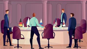 Diplomacy And Negotiations Background vector
