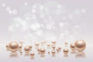 Realistic Blurry Pearls Background vector