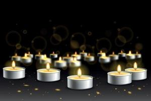 Candle Lights Realistic Background vector