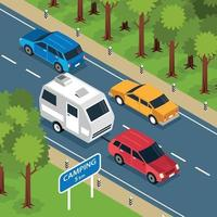 Family Road Trip Composition vector