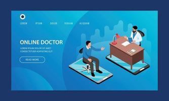 Online Medicine Doctor Website vector