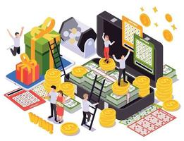 Lottery Isometric Design Concept vector