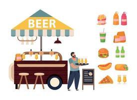 Street Cafe Concept vector