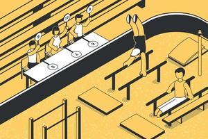 Ilustración de jueces votantes vector