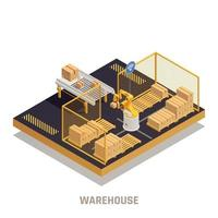 Warehouse Automation Isometric Element vector