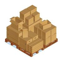 Boxes On Pallets Composition vector