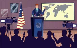 Diplomat And Politics Background vector