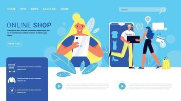 Online Shop Website Design vector