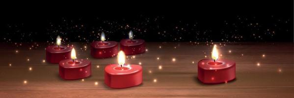 Valentine Candles Realistic Background vector
