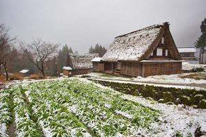 Área de gokayama dentro de la ciudad de nanto en la prefectura de toyama, japón foto