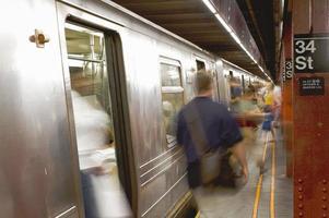 New York subway station photo